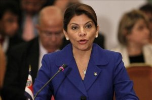 En la imagen, la presidenta costarricense, Laura Chinchilla. EFE
