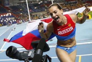Yelena Isinbayeba logró oro en el Mundial de Atletismo
