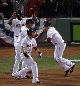 Medias Rojas de Boston derrotaron en el sexto juego de la Serie Mundial por 6 carreras a 1 y con ello ganan la serie 4 a 2