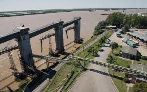 Vista del Río Paraná en Rosario Argentina