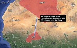 La ruta del vuelo 5017 de Air Algerie. (Mapa de Google Maps vía Yahoo News)