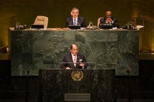 Presidente, Luís Guillrmo Solís en la ONU