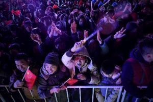 Una multitud celebra el Año Nuevo en Pekin (AFP