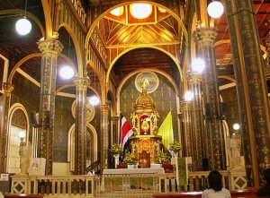 Imagen del interior de la basílica de Los Angeles