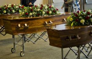 El funeral terminó en una tragedia