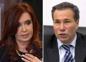 Composición gráfica de la presidenta argentina Cristina Kirchner (I), en imagen del 19 de septiembre de 2012 y del extinto fiscal Alberto Nisman (D), el 20 de mayo de 2009 (AFP